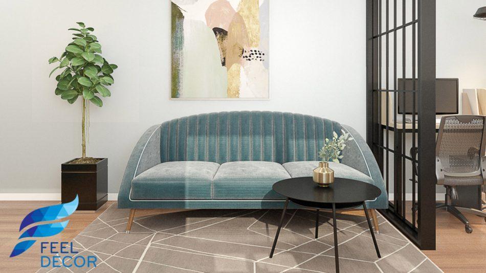 Thiết kế thi công nội thất căn hộ Officetel 38m2 chung cư Millennium – FD9818