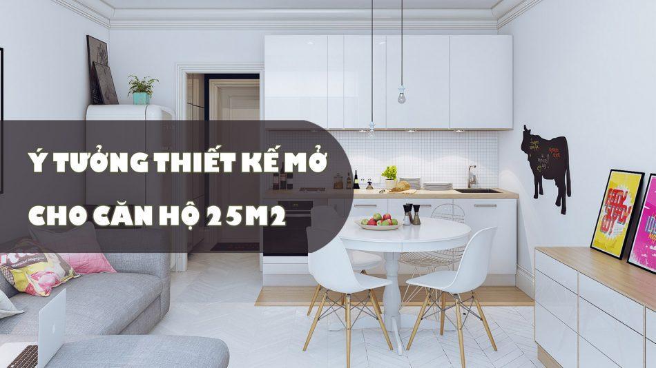 thiết kế căn hộ 25m2