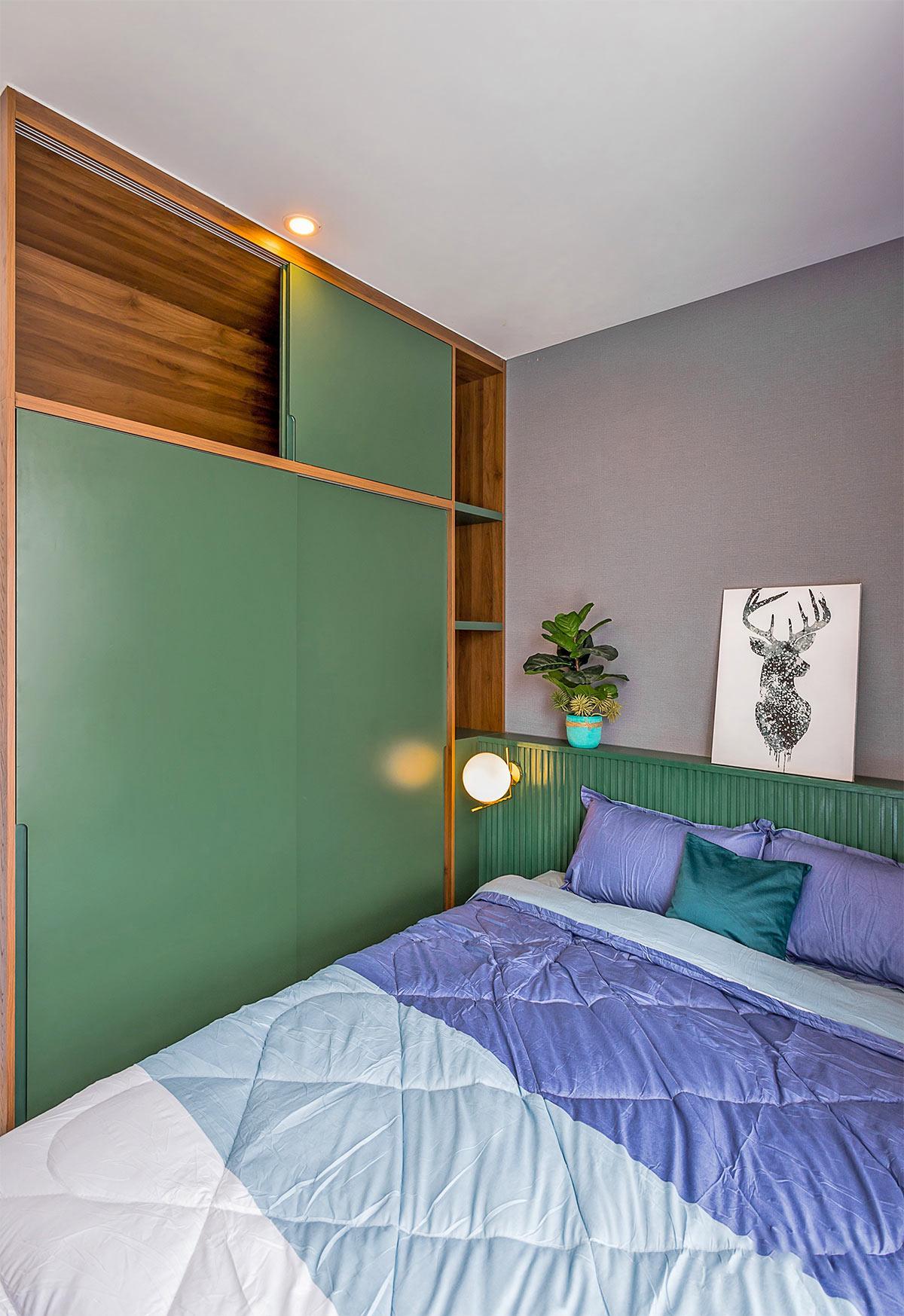 Thiết kế nội thất phòng ngủ phụ căn hộ 3 phòng ngủ