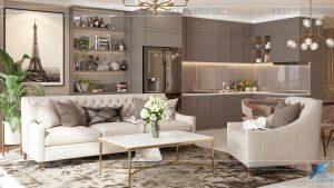 Thiết kế thi công nội thất căn hộ 103m2 (3 phòng ngủ) CC Vinhomes Ba Son