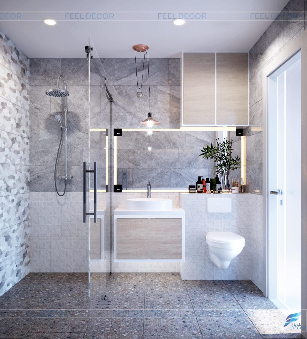 Thiết kế thi công nội thất căn hộ 76m2 [2PN] chung cư Newton Residence – FD12118