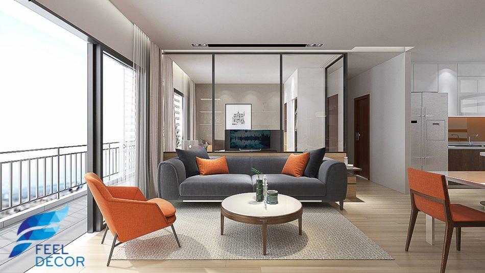 thiết kế nội thất căn hộ 79m2 chung cư the sun avenue