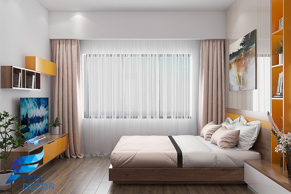 thiết kế nội thất phòng ngủ 79m2