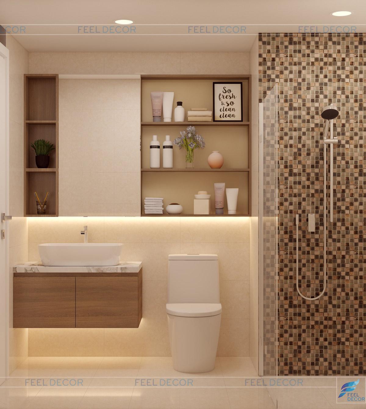 Thiết kế thi công nội thất căn hộ 3 phòng ngủ 81m2 chung cư Orchard Parkview – FD9118