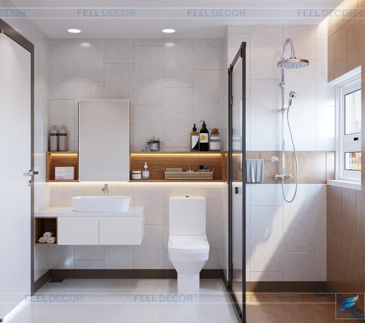 Thiết kế thi công nội thất căn hộ 97m2 – 3 phòng ngủ chung cư Newton Residence