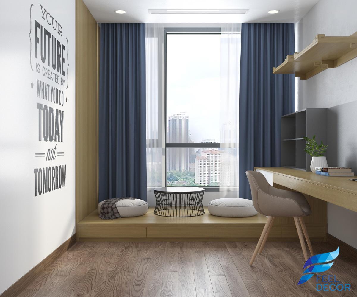 nội thất căn hộ 3 phòng ngủ [101m2] chung cư Vinhomes
