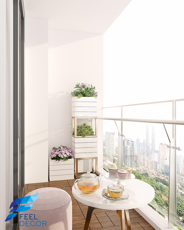 nội thất căn hộ 4 phòng ngủ (158m2) CC Vinhomes Golden River