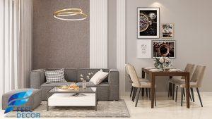 nội thất căn hộ 72m2 chung cư Millennium Masteri Quận 4 chị vân
