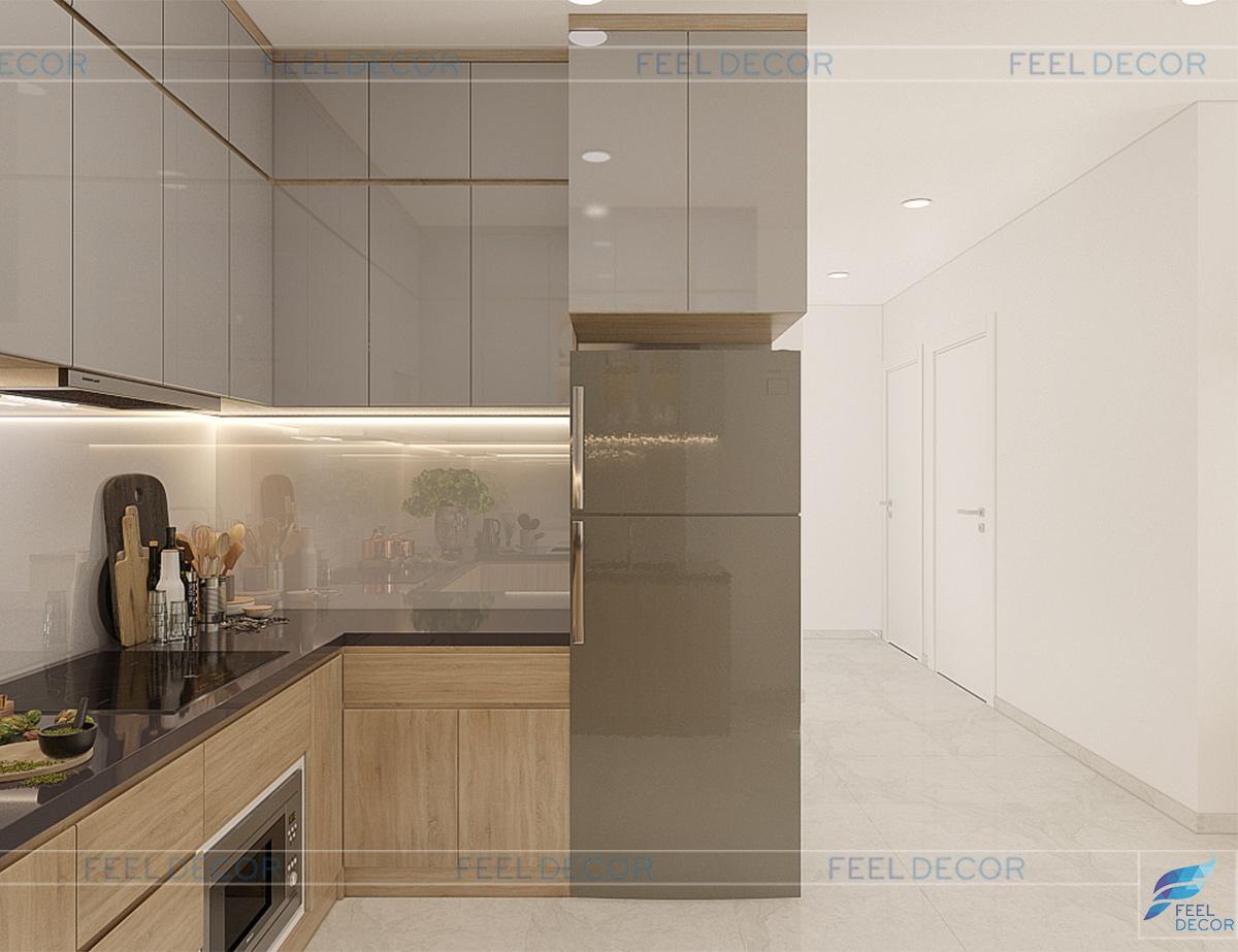 nội thất căn hộ 2 phòng ngủ (76m2) CC The Sun Avenue