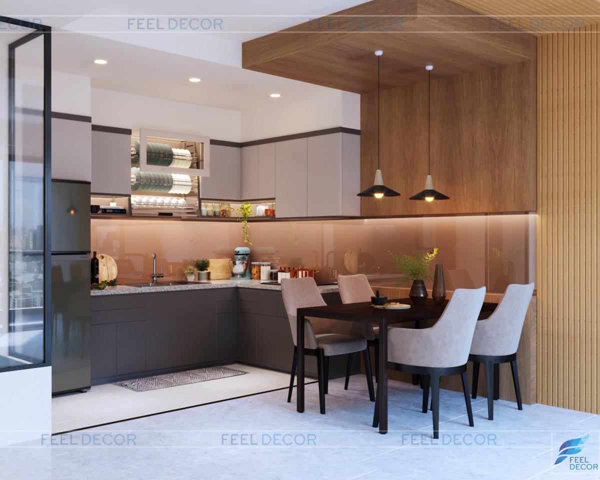 nội thất căn hộ 77m2 (2PN) chung cư Sunrise City View