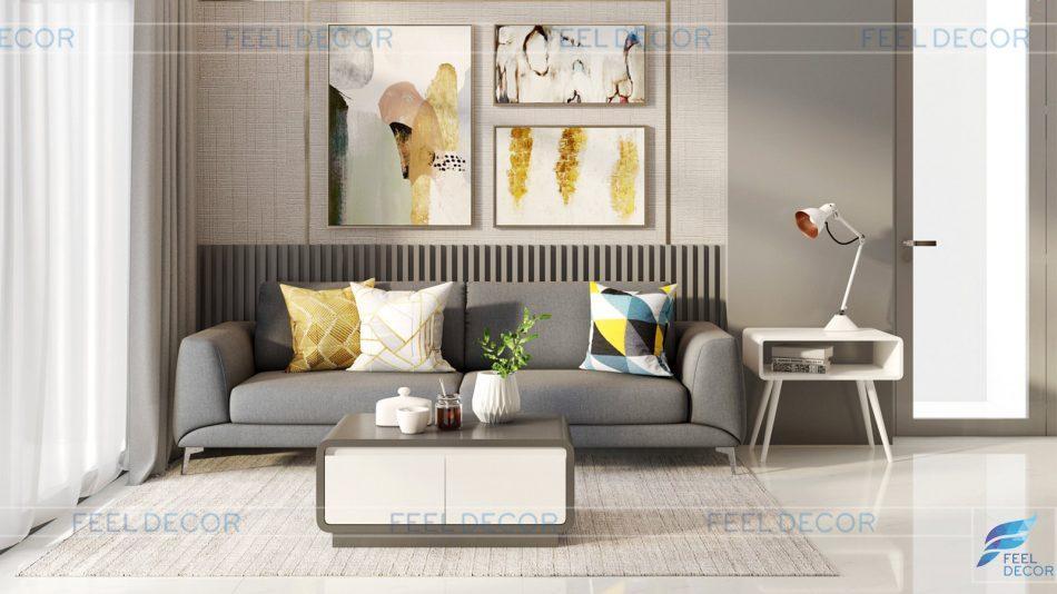 Thiết kế thi công nội thất căn hộ 79m2 (2PN) chung cư Vinhomes – FD12418