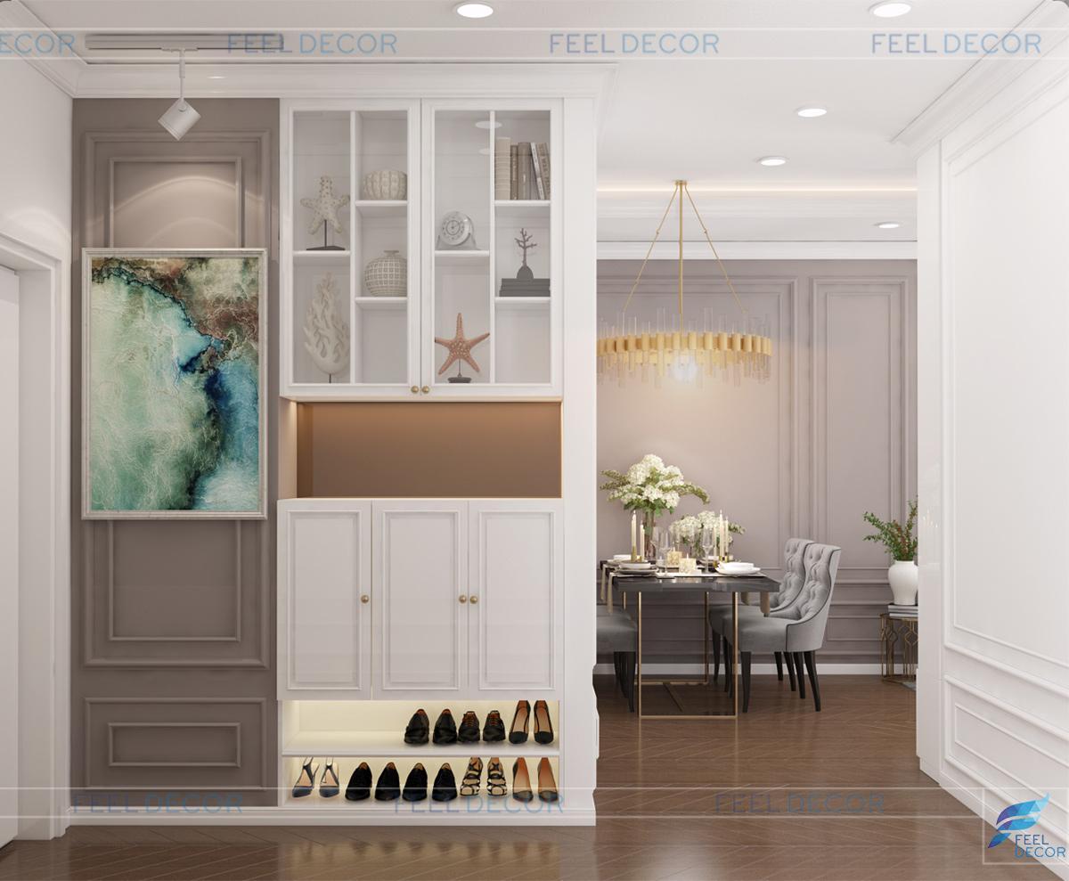 Thiết kế thi công nội thất căn hộ 80m2 (2PN) CC The Sun Avenue NovaLand &124; FD12518