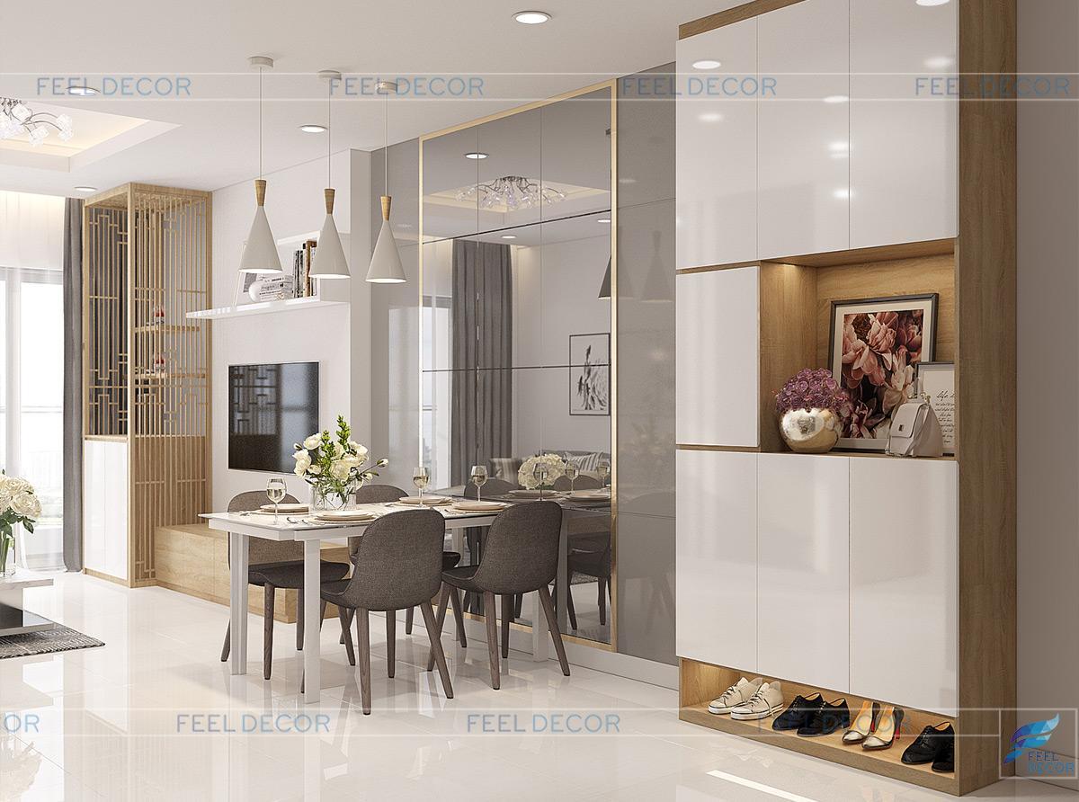 phòng bếp căn hộ 90m2 chung cư sun avenue