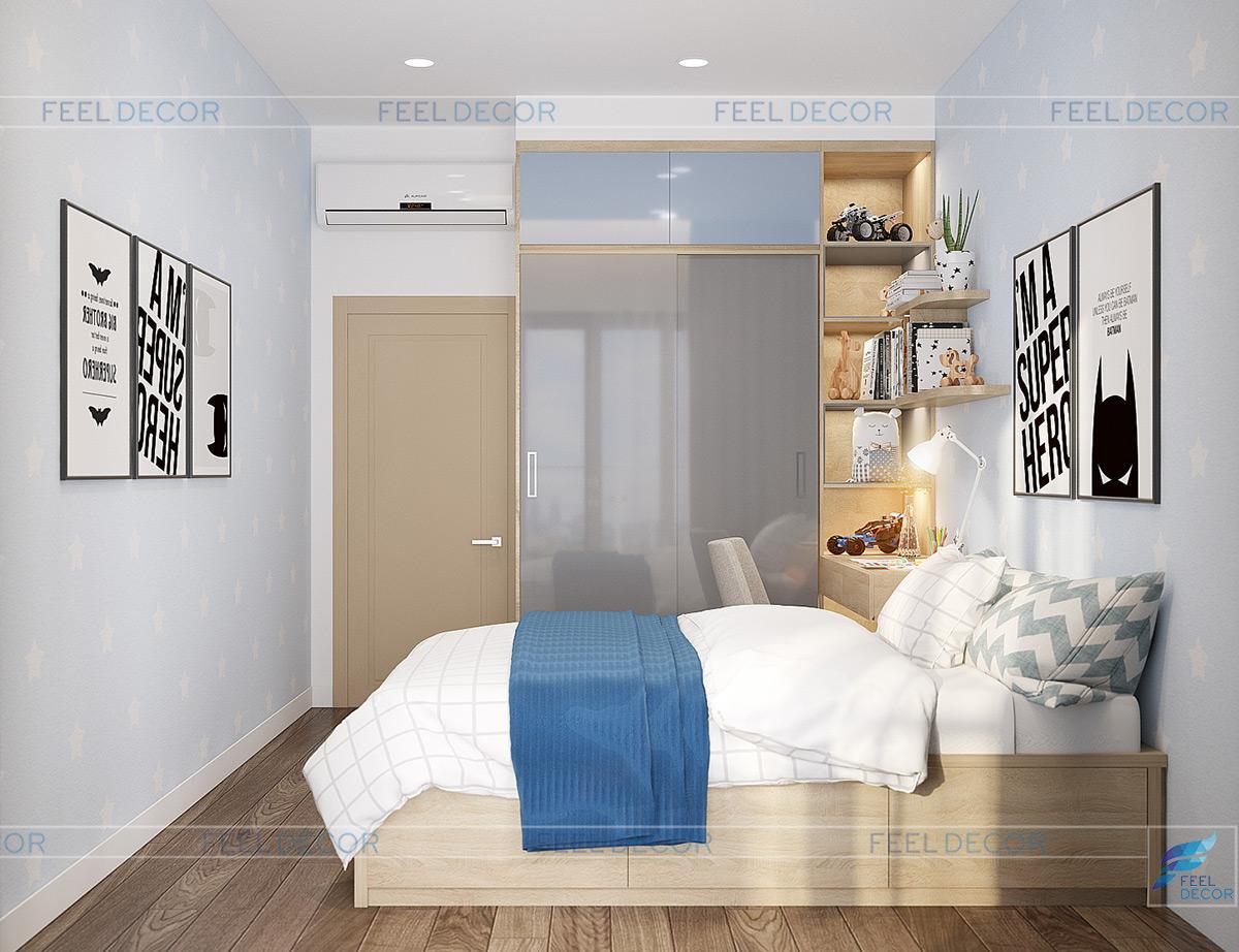 thiết kế thi công nội thất căn hộ 3PN