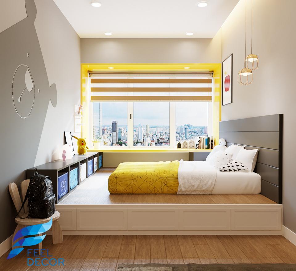thiết kế thi công nội thất căn hộ 115m2
