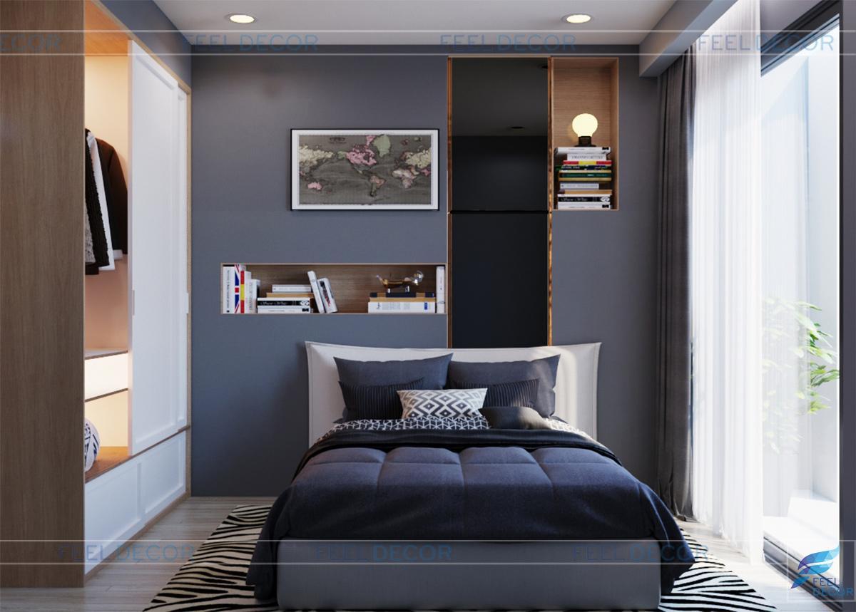 phòng ngủ phụ nội thất căn hộ 103m2