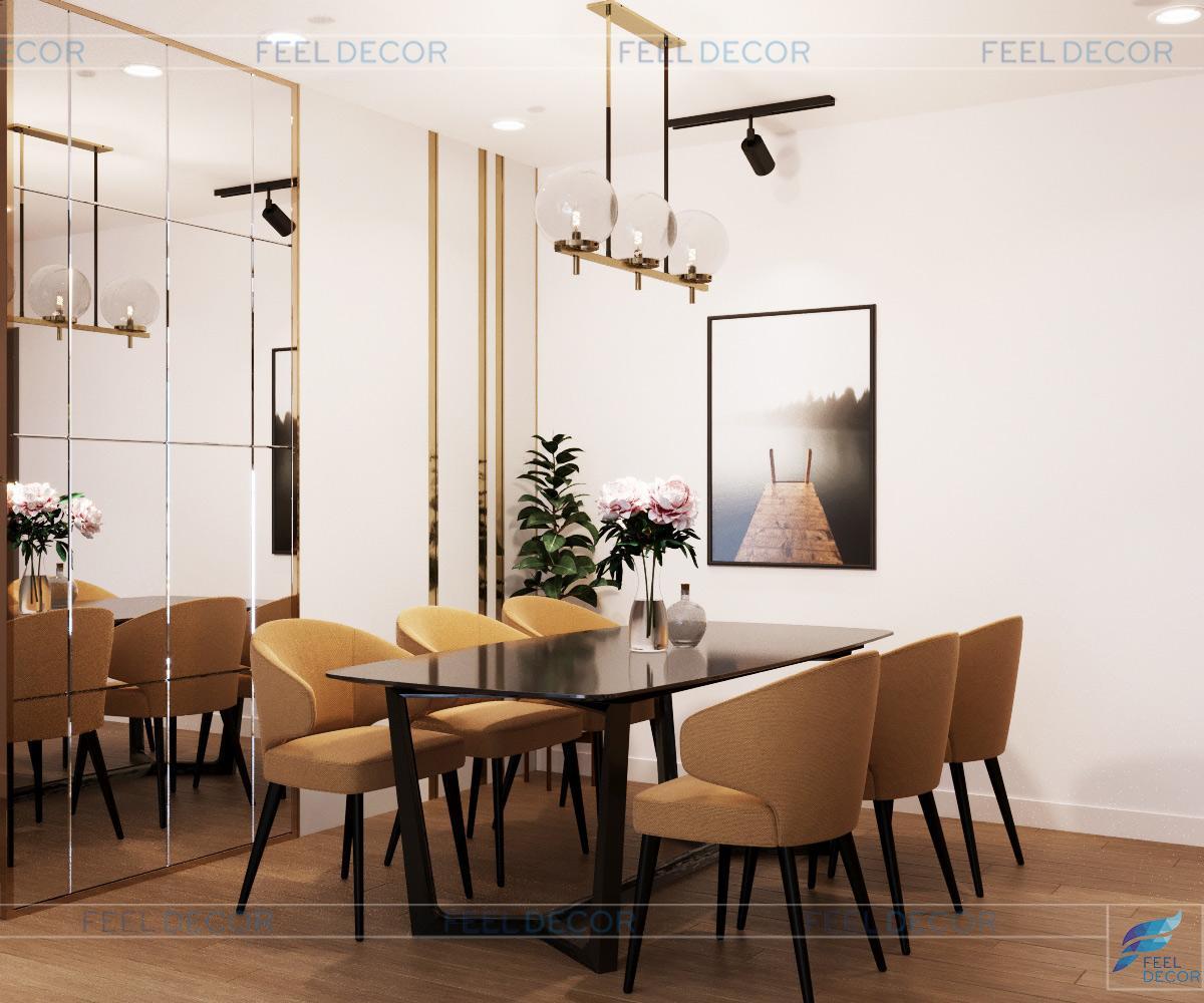 thiết kế không gian ăn uống