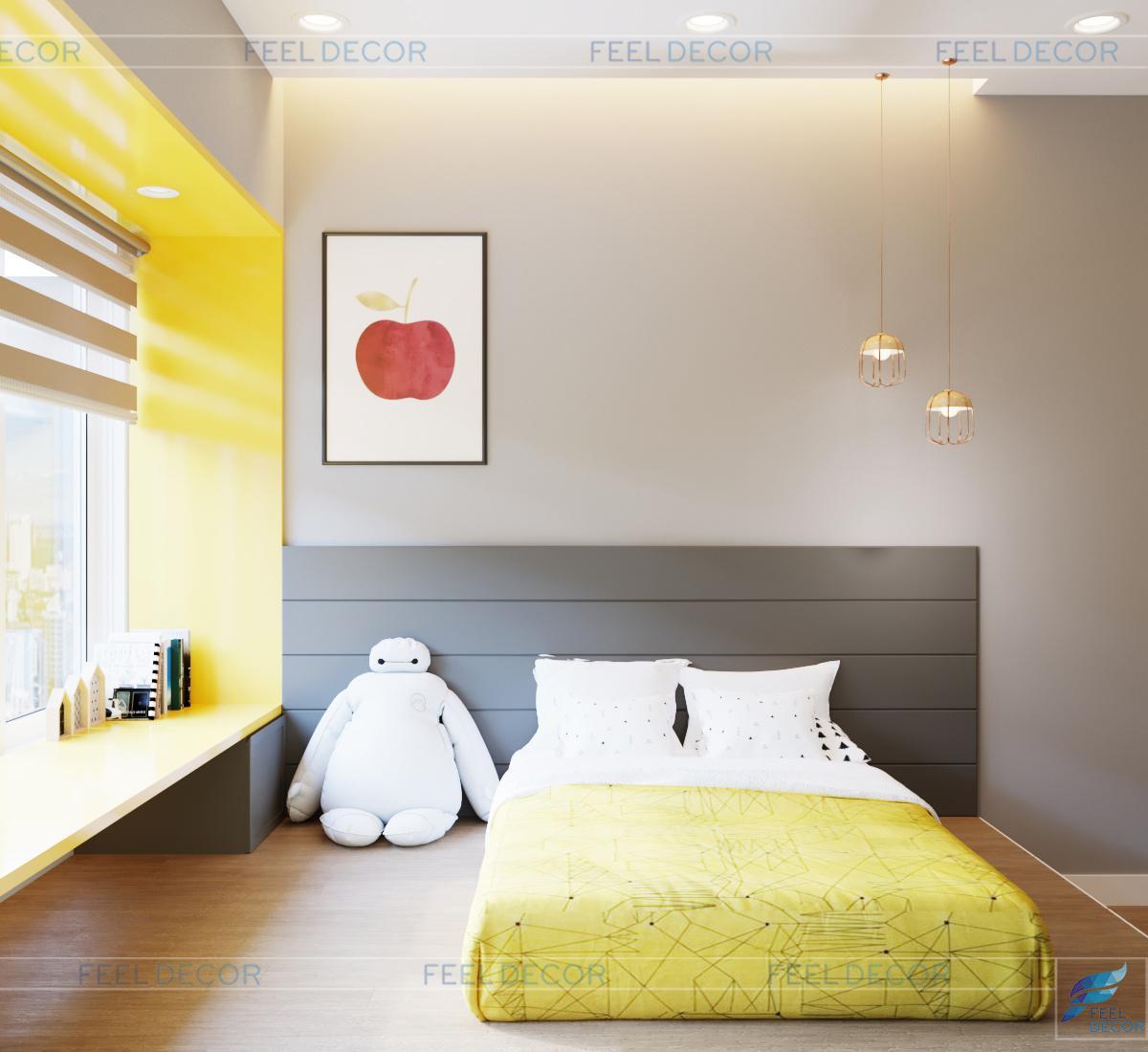 Không gian nội thất phòng ngủ của bé căn hộ 115m2