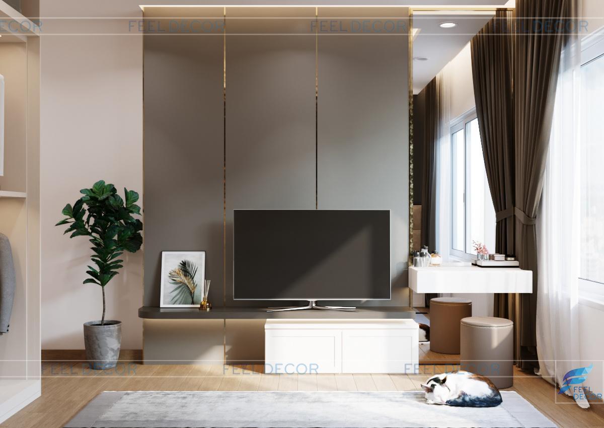Thiết kế thi công nội thất phòng ngủ Master căn hộ 115m2
