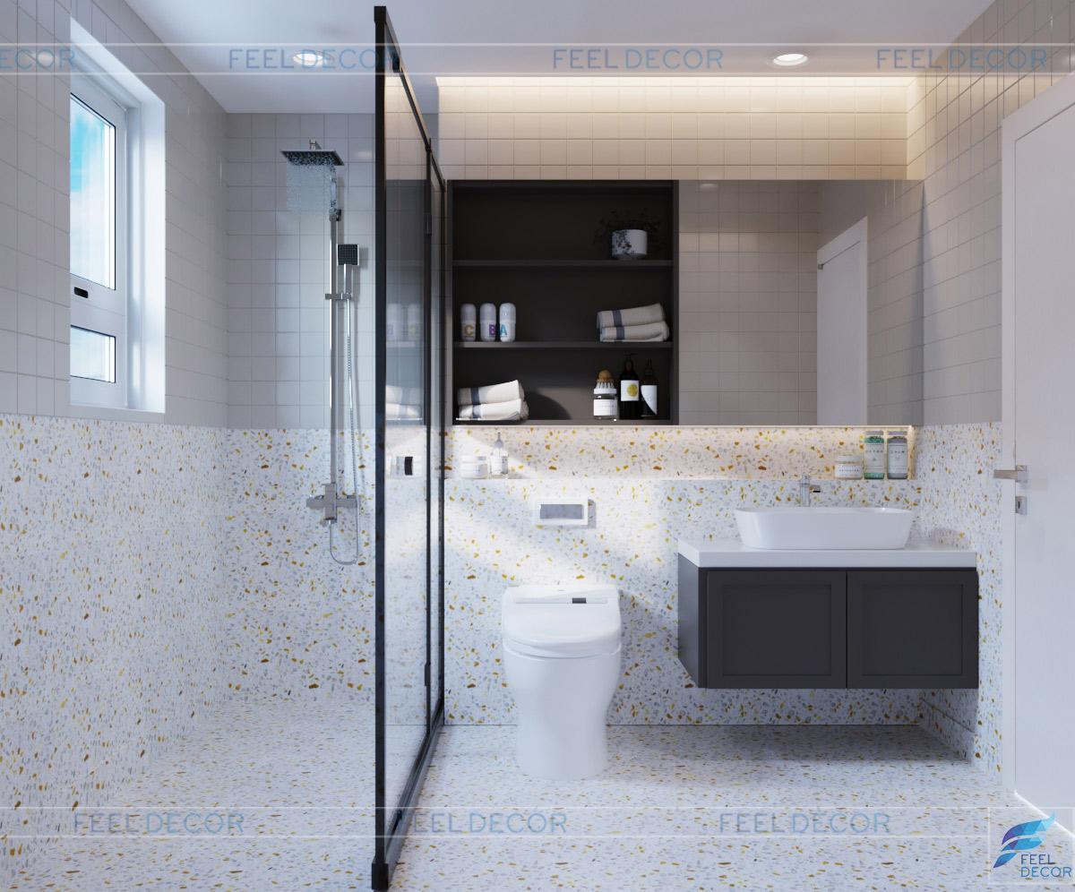 Thiết kế thi công nội thất phòng vệ sinh căn hộ 115m2