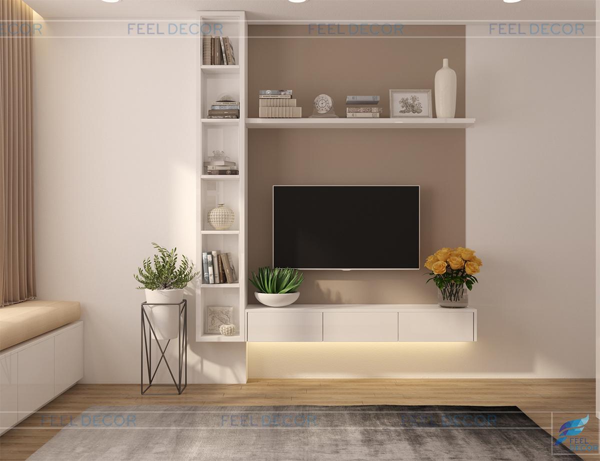 Thiết kế thi công nội thất phòng ngủ Master căn hộ 85m2