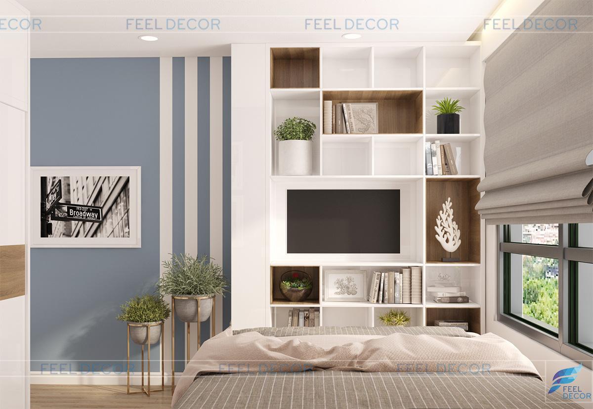 Không gian nội thất phòng ngủ bé trai