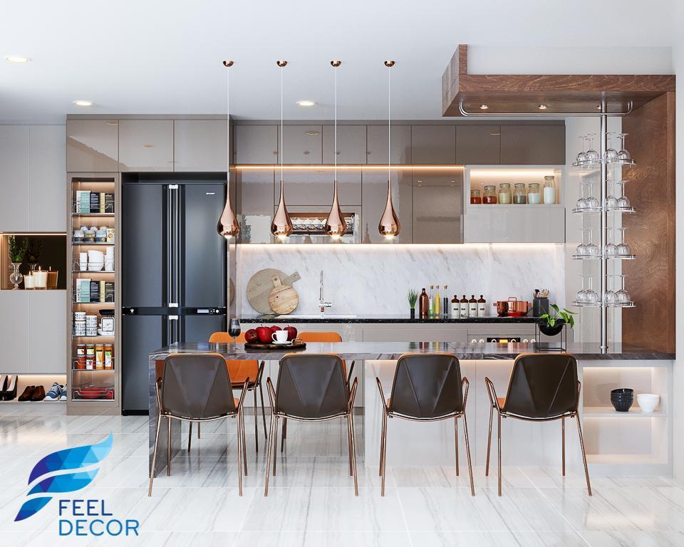 Thiết kế thi công đẹp nội thất căn hộ 89m2