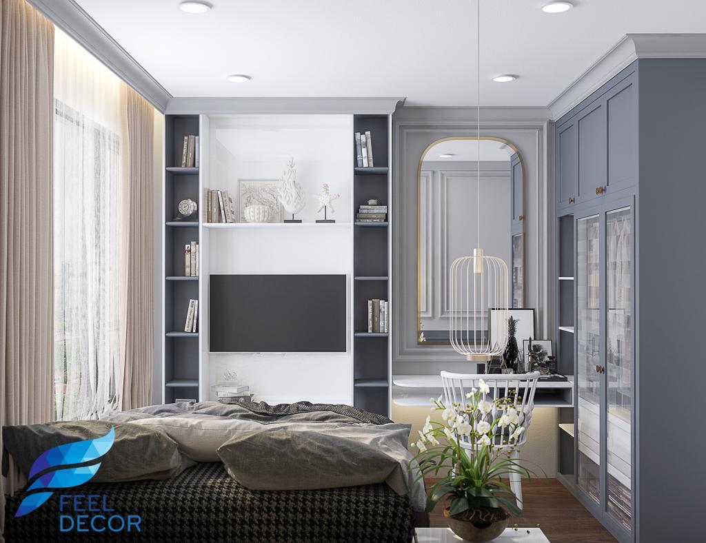 thiết kế thi công nội thất căn hộ 67m2