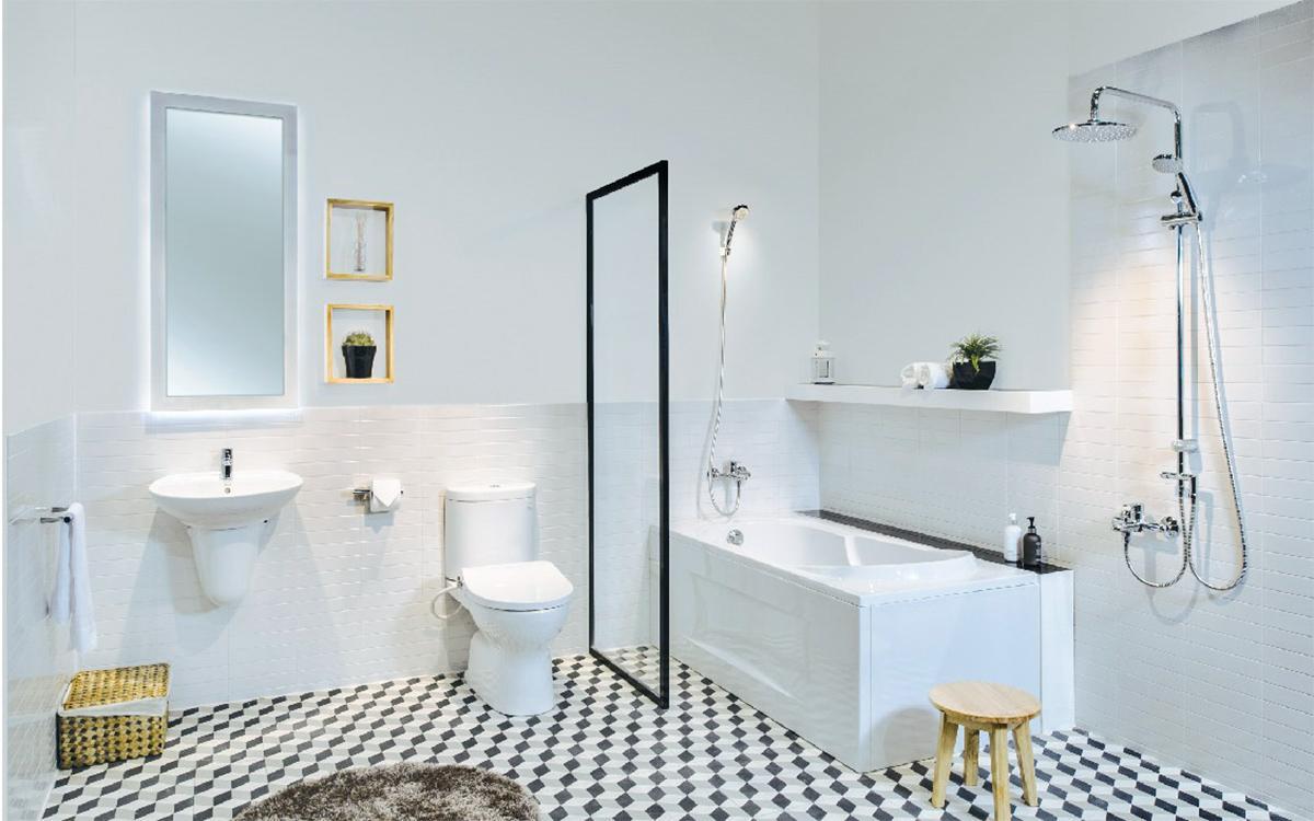 thiết kế nội thất căn hộ màu trắng