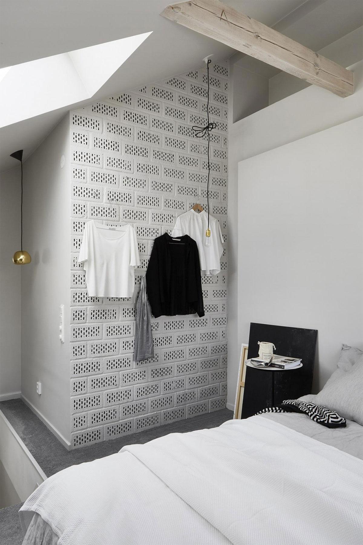 thiết kế nội thất phòng ngru căn hộ màu trắng
