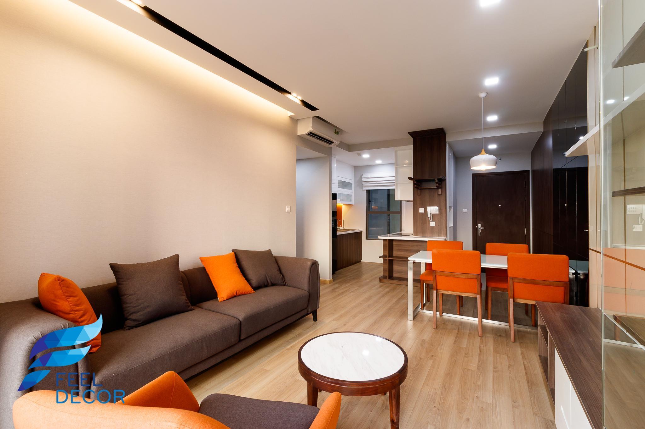 phòng khách căn hộ 3 phòng ngủ (79m2) CC The Sun Avenue Quận 2