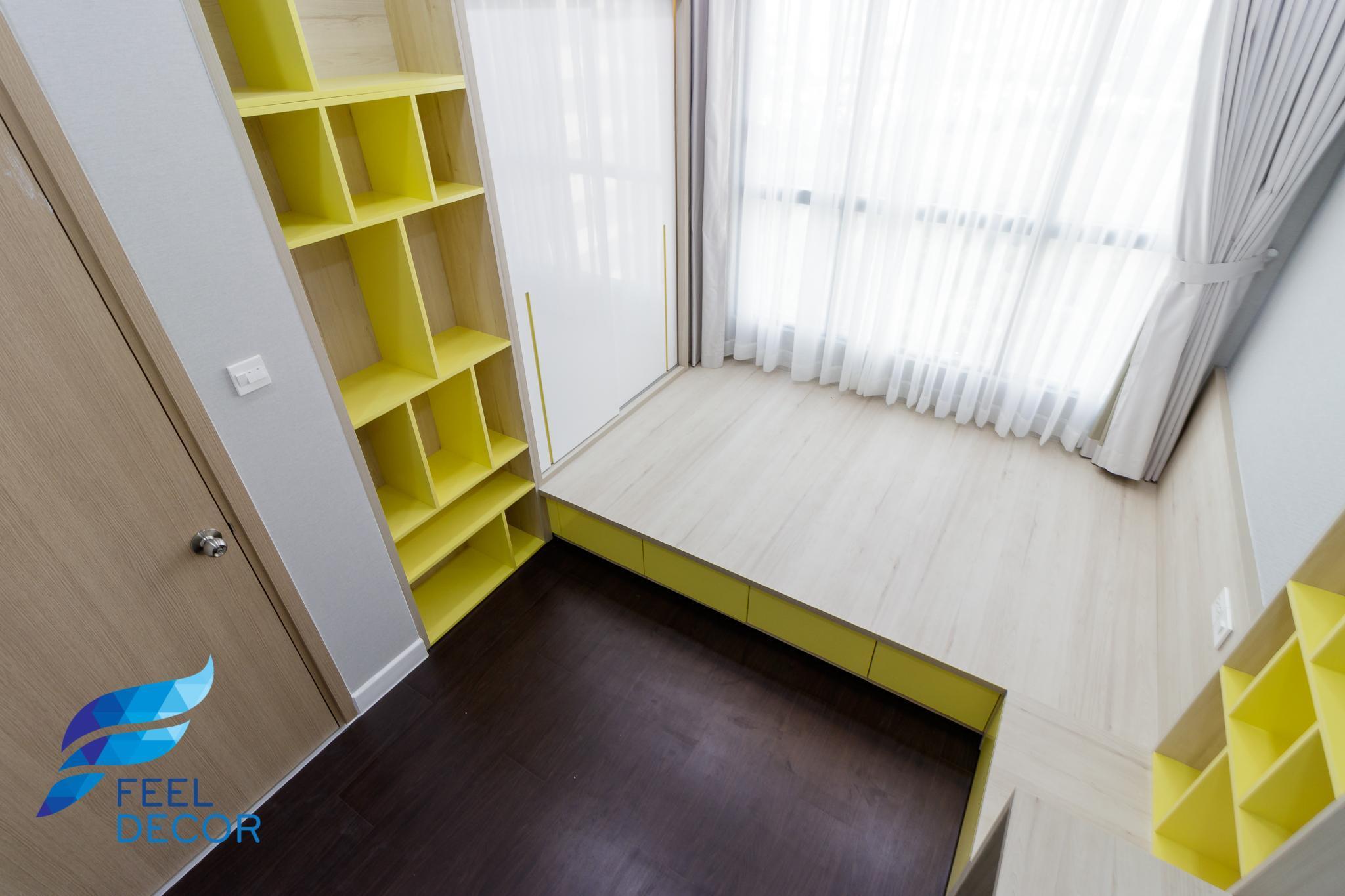 Phòng ngủ thực tế căn hộ The Sun Avenue cho bé trai.