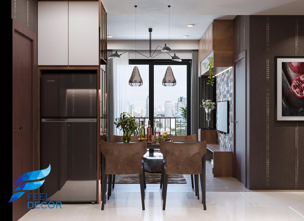 thiết kế thi công nội thất căn hộ 1 phòng ngủ - 46m2
