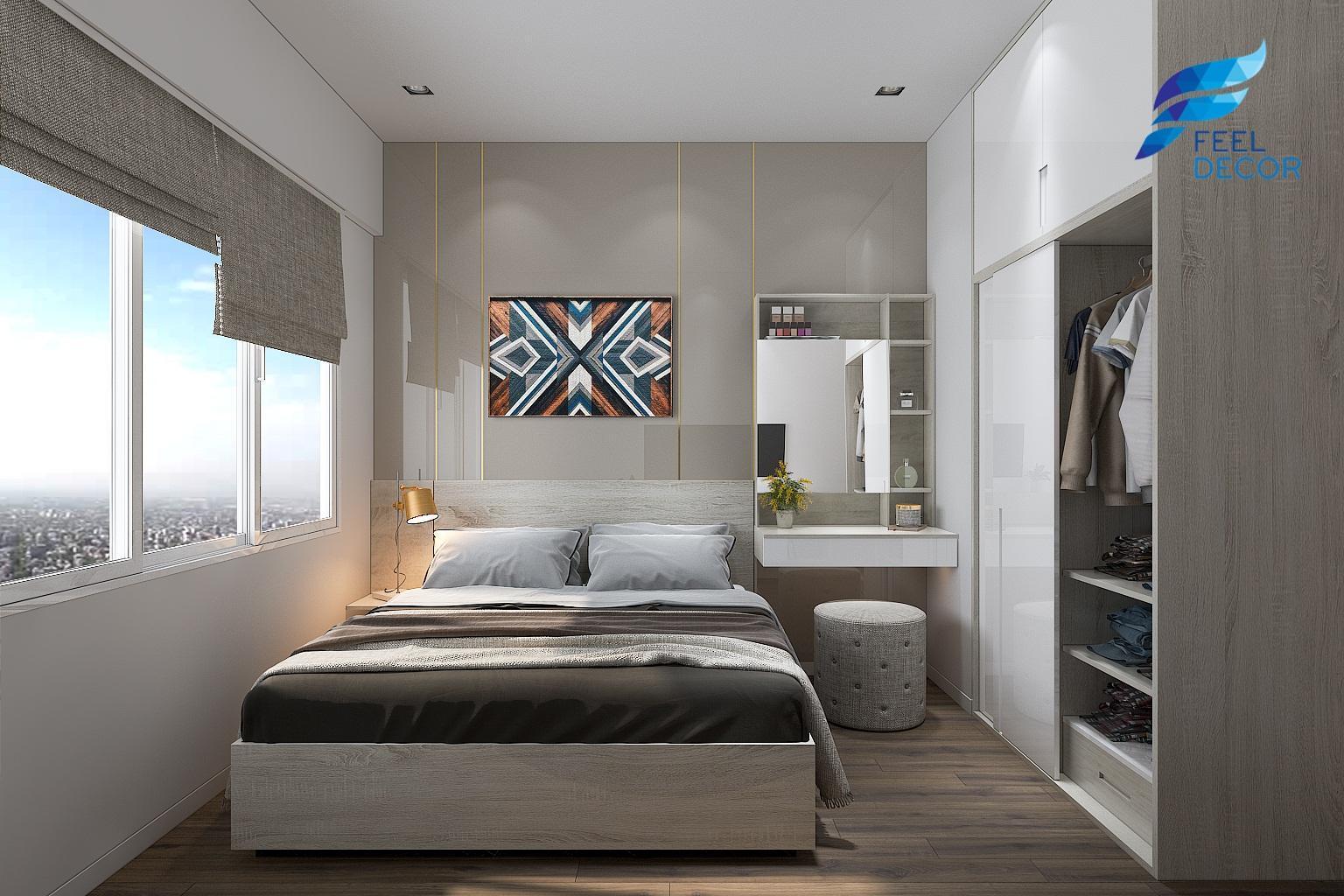 thiết kế thi công nội thất căn hộ 2 phòng ngủ