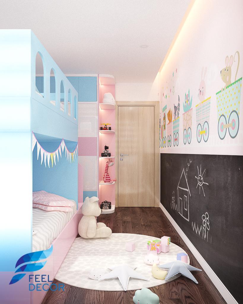 thiết kế thi công nội thất căn hộ 75m2