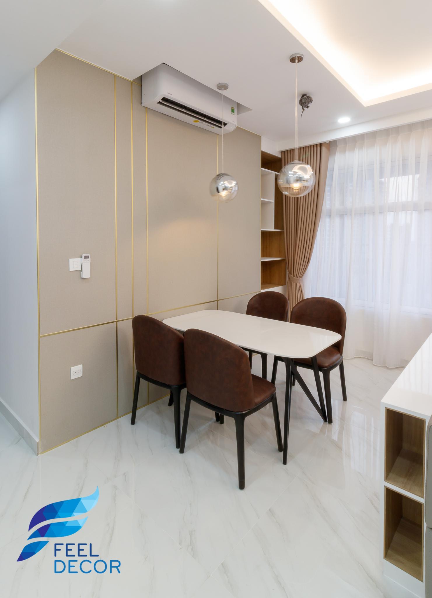 nội thất căn hộ The Sunrise Riverside hình ảnh thực tế 2 phòng ngủ hiện đại