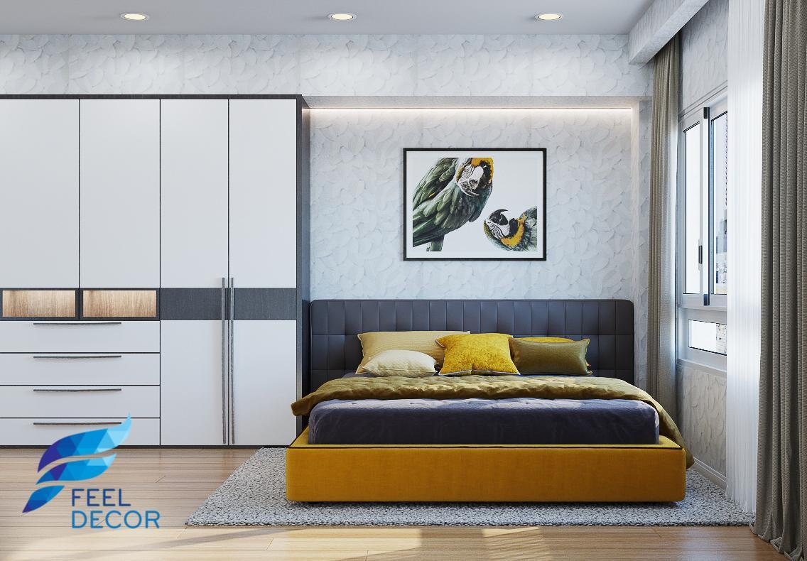 Nội thấtPhòng ngủ căn hộ Hà Đô 110 m2 - 3pn tại quận 10