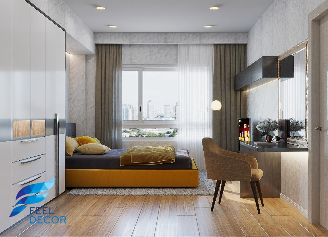 thiết kế thi công nội thất căn hộ 110m2 - 3 phòng ngủ