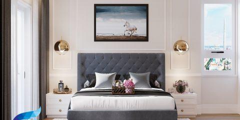 thiết kế thi công nội thất căn hộ 141m2 - 4 phòng ngủ