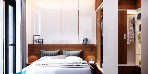 thiết kế thi công nội thất căn hộ 3 phòng ngủ - 123m2
