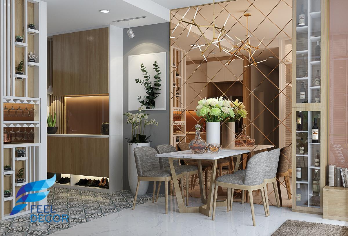 thiết kế thi công nội thất căn hộ 90m2 – 3 phòng ngủ chung cư Sunrise Riverside