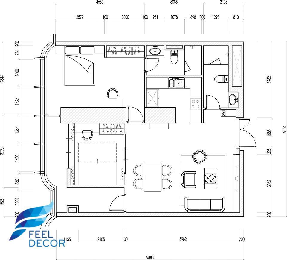 căn hộ Landmark 81 Vinhomes 2 phòng ngủ