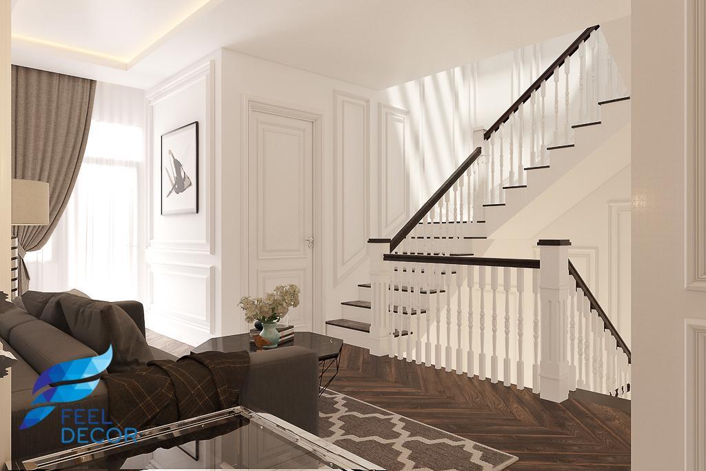 thiết kế thi công nội thất nhà phố cổ điển
