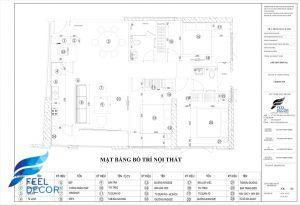Hình ảnh: Mặt bằng bố trí nội thất căn hộ 110m2 chung cư Saigon Royal – 3 phòng ngủ