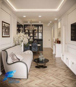 Thiết kế thi công nội thất căn hộ 85m2 (2 phòng ngủ) chung cư Hà Đô Centrosa Garden