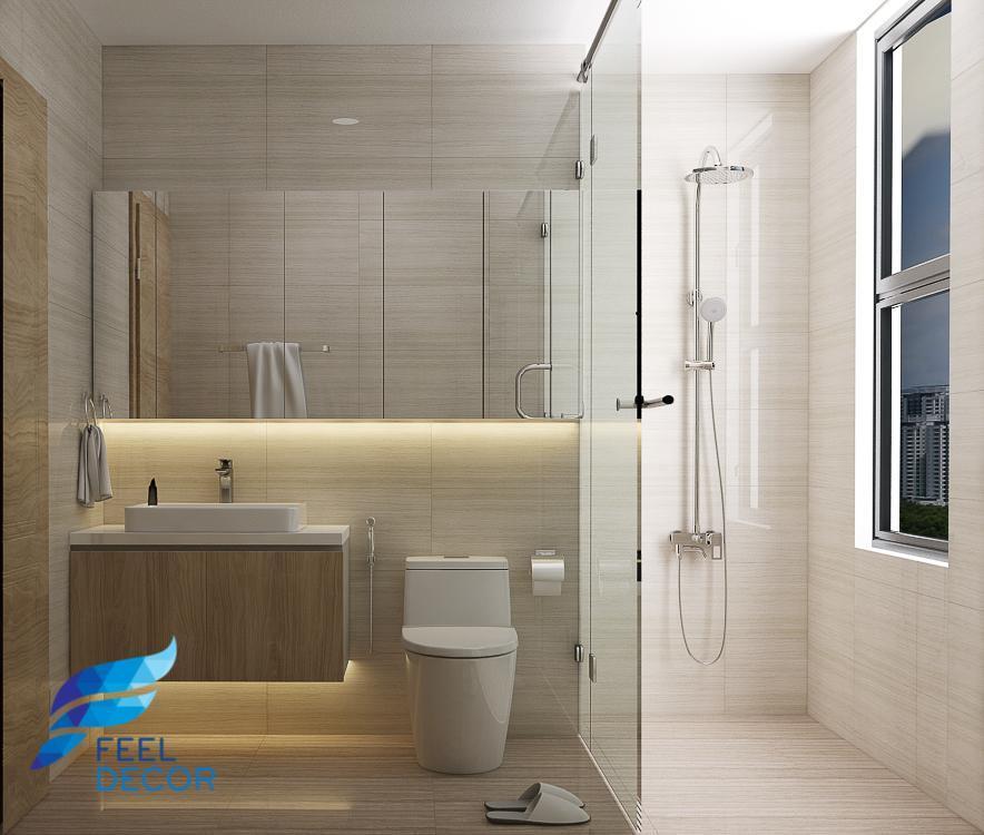 Hình ảnh: Thiết kế – thi công nội thất căn hộ 110m2 chung cư Saigon Royal – 3 phòng ngủ
