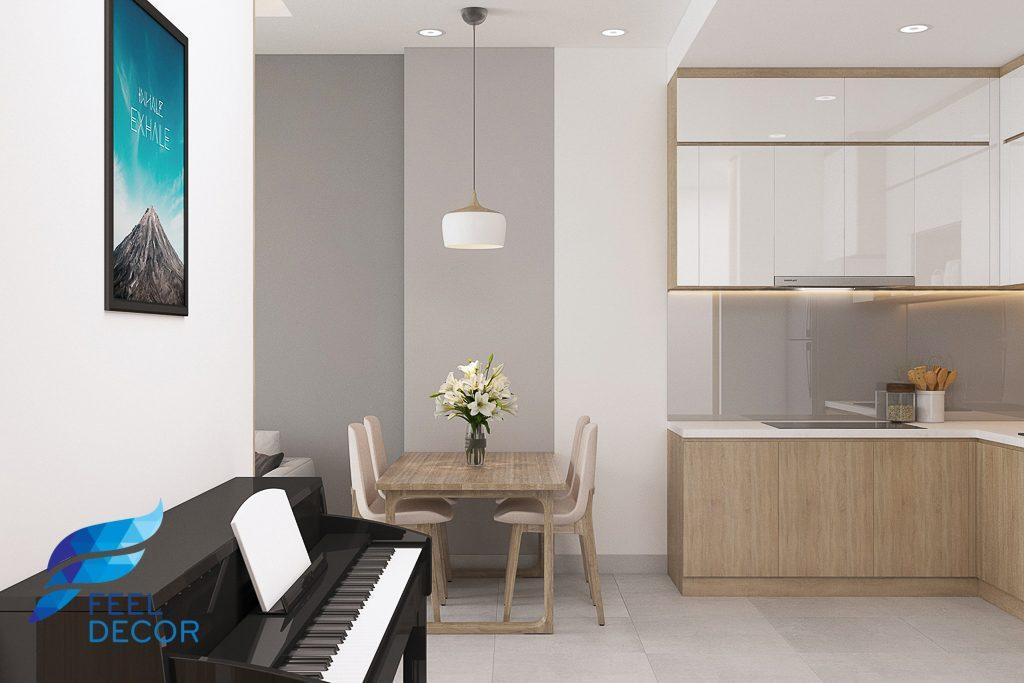 Hình ảnh: Thiết kế thi công nội thất căn hộ 2 phòng ngủ 71m2 chung cư Sunrise Riverside