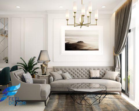 Thiết kế thi công nội thất căn hộ 2 phòng ngủ 73m2 chung cư Golden Masion