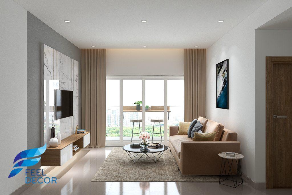 Thiết kế thi công nội thất căn hộ 2 phòng ngủ 82m2 chung cư Sadora – Sala