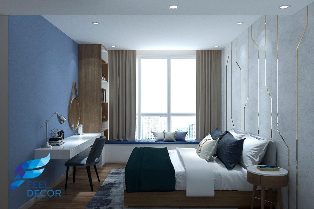 Hình ảnh: Thiết kế thi công nội thất căn hộ 82m2 (2 phòng ngủ) chung cư Sadora Sala